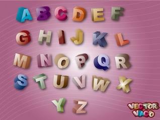 Coloridos 3d alfabetos