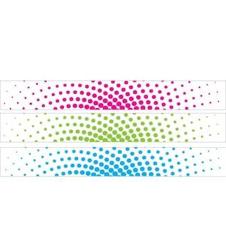Bandera de colores con elementos de medios tonos