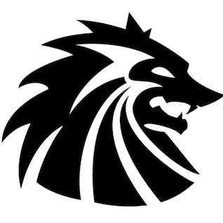 Tribal cabeza del lobo ilustración vectorial