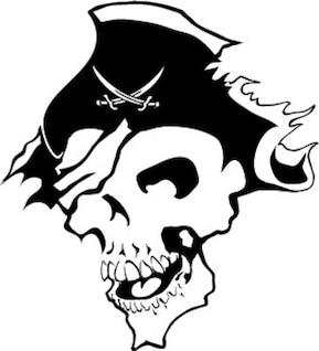 Imagen del cráneo del pirata