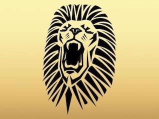 Roaring tatuaje cabeza de león