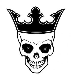 Cráneo del rey con la corona