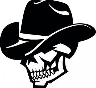 Cráneo con el sombrero