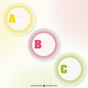 Plantillas de pegatina de ABC