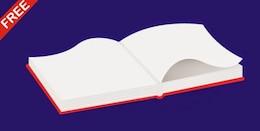 Abierta en blanco ilustración de libros de vectores