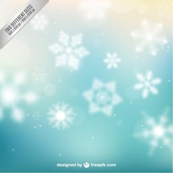 Fondo abstracto con copos de nieve