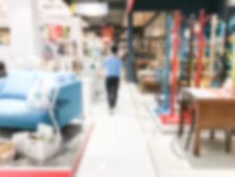 Abstract blur centro comercial interior