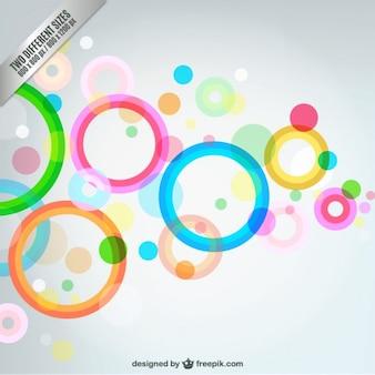 Fondo de burbujas abstractas