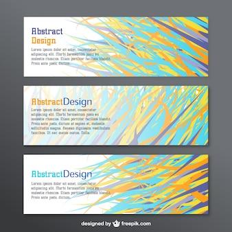 Pack de banners de diseño abstracto