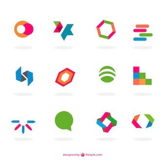 Conjunto de logos planos