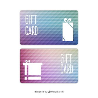 Tarjetas de regalo abstractas
