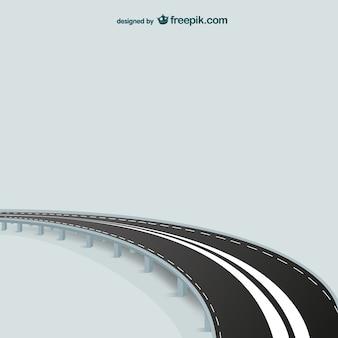 Vector de carretera con curva