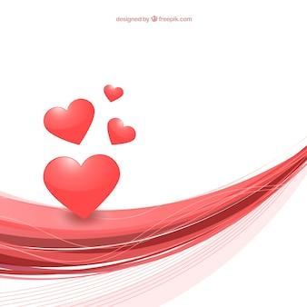 Fondo abstracto del día de San Valentín con corazones