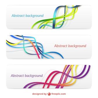 Conjunto de banners abstractos