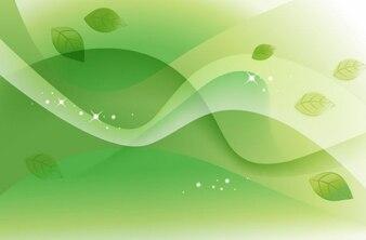 abstracta verde de la primavera de vectores de fondo