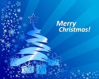 abstracto azul de fondo de Navidad ilustración vectorial