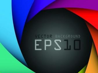 Abstracto colorido creativo conjunto de vectores geometría