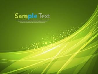 abstracto verde suave fondo líneas vectoriales