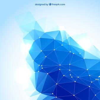 Abstrat fondo poligonal en color azul