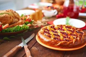 Acción de Gracias baya horneados caseros cocinado