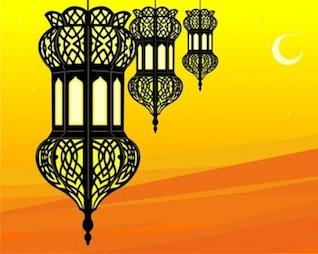 acciones ilustración de ramadán elegante linterna