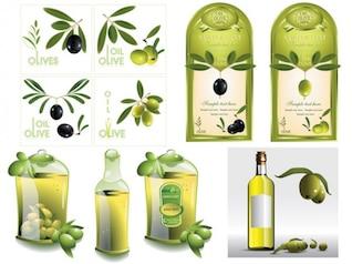 aceite de oliva, material de vectores