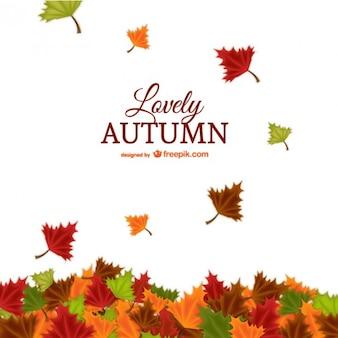 Adorable fondo de otoño