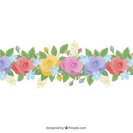 Adornos florales coloridos