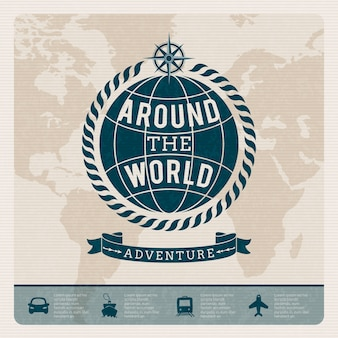 Plantilla de aventura por el mundo