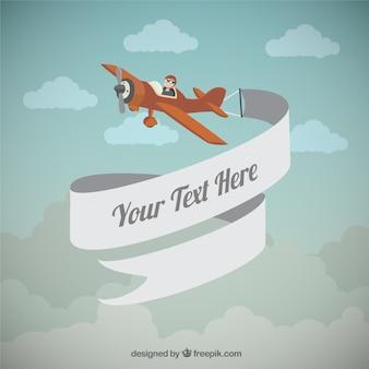 Aeroplano con un banner