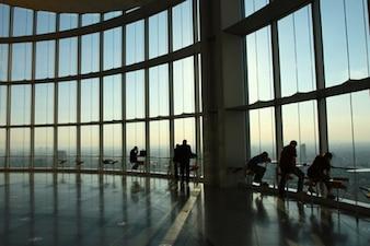 Aeropuerto de sala de material de imagen