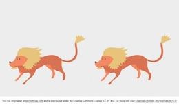Africano vector de la historieta del león