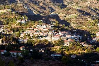 Agros, pueblo de montaña tradicional. Chipre, Distrito de Limassol