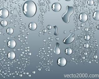 agua vectoriales gotas