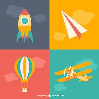 Dibujos de transporte aéreo