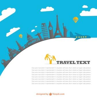 Plantilla de viajes con lugares del mundo