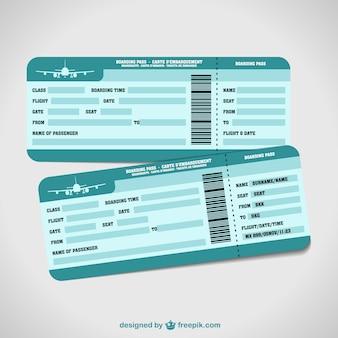 Plantillas de billetes de avión