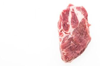 Aislado carne de cerdo cruda