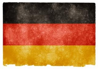 alemania bandera del grunge antiguo