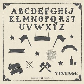 Alfabeto vintage