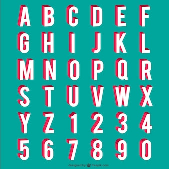 Alfabeto y números