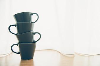 Alimentos té, café espresso caliente