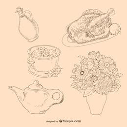 Alimentos y flores