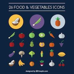 Alimentos y verduras iconos