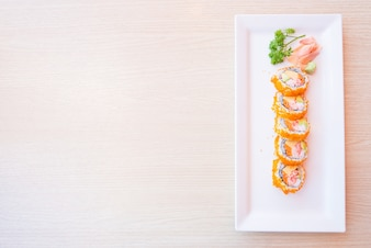 Almuerzo cena saludable de comida japonesa