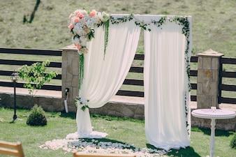 Altar con flores