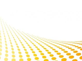 Amarillo perspectiva de puntos en fondo blanco resumen