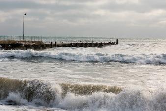 Amarre en el océano