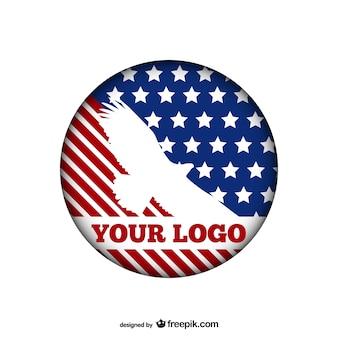 Plantilla de logotipo con águila americana