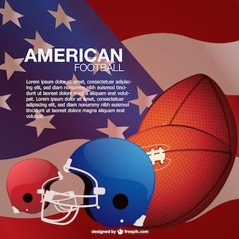 Plantilla con elementos de fútbol americano